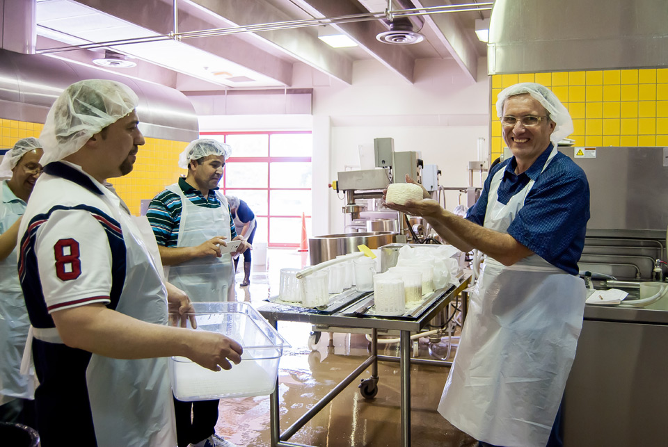 University of Guelph cheesemaking course with instructor Art Hill.