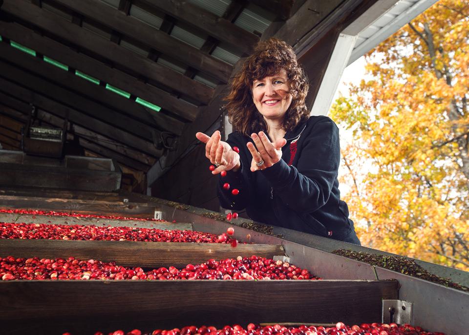 Wendy Hogarth runs Johnston's Cranberry Marsh in Bala, Ontario.
