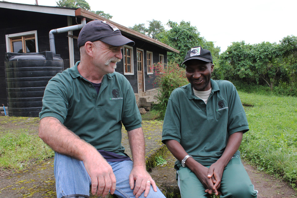 Veterinarian Mike Cranfield in Africa.