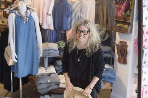 Fashion designer Shannon Passero in her retail store.