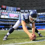 On the job: long snapper Jake Reinhart plays one of the most specialized positions in football