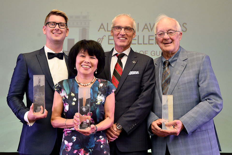 Alumni Awards of Excellence winners at the Univeristy of Guelph.
