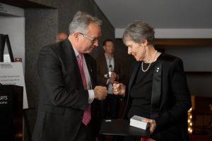 Former astronaut Roberta Bondar hosts a reception for U of G alumni.
