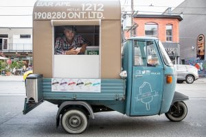 The tiny Bar Ape food truck serves delicious gelato.