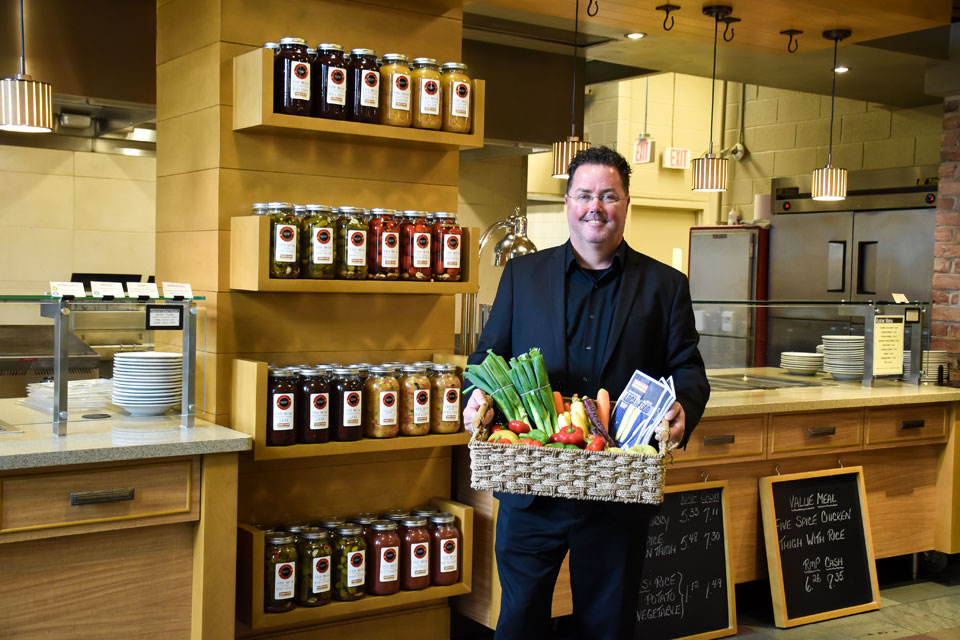 Mark Kenny sources goods to serve staff, students and faculty fresh and local food at the University of Guelph