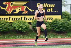 Tessa Hamilton trains for track and field.