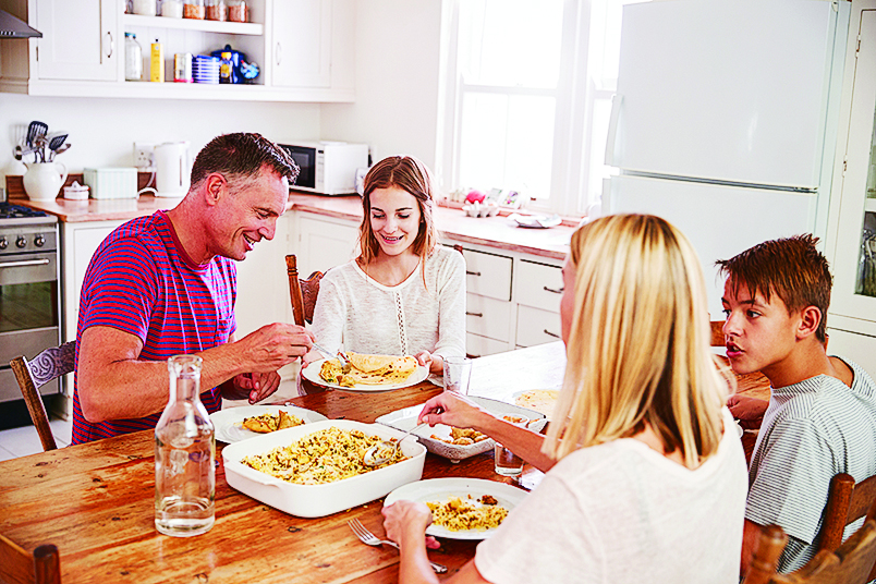 Teens and Family Dinners
